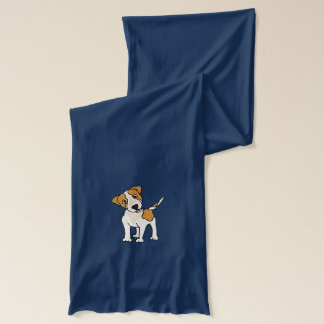 Funny Jack Russell Puppy Scarf