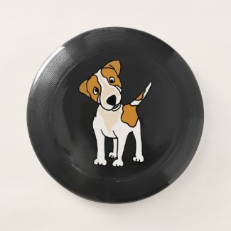 Funny Jack Russell Terrier Cartoon Frisbee