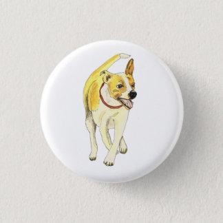 Funny Jack Russell Terrier dog novelty art badge Button