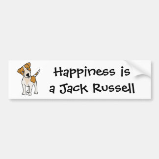 Funny Jack Russell Terrier Puppy Dog Car Bumper Sticker
