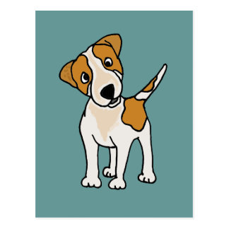 Funny Jack Russell Terrier Puppy Dog Postcard