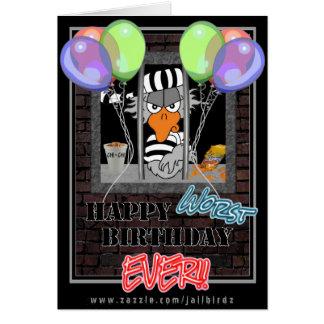 Funny Jailbird Birthday card