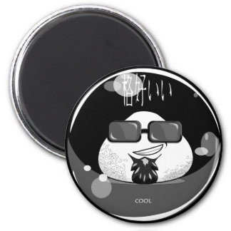 Funny Japanese Riceball 2 Inch Round Magnet