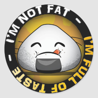 Funny japanese riceball classic round sticker