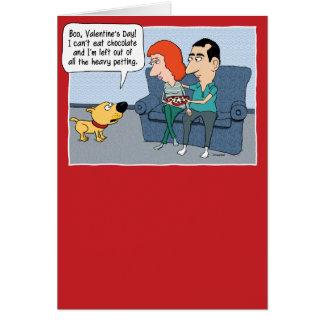Funny Jealous Dog Valentine's Day Card