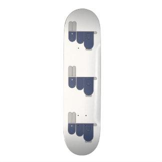 Funny jeans Bunny Skateboard