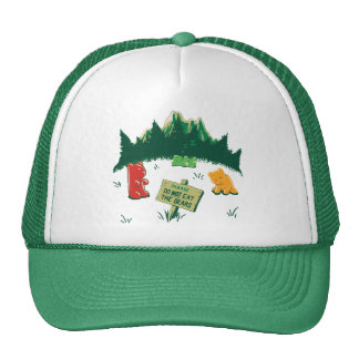 Funny Jelly Bears at Mountains Trucker Hat