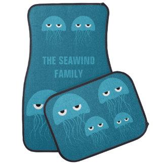 Funny Jellyfish custom car floor mats