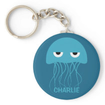 Funny Jellyfish custom key chains