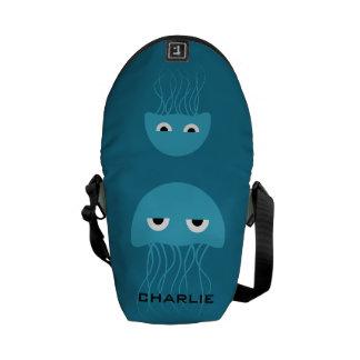 Funny Jellyfish custom messenger bags