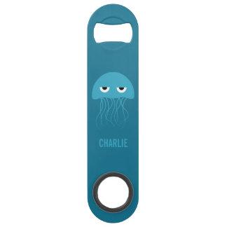 Funny Jellyfish custom monogram bottle opener