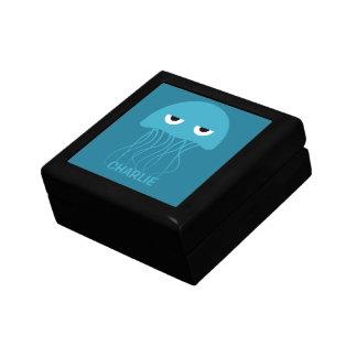 Funny Jellyfish custom monogram jewelry / gift box