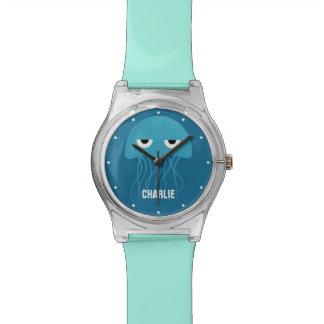 Funny Jellyfish custom monogram watches