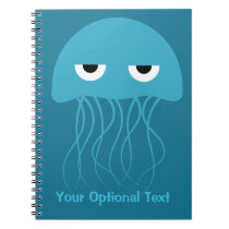 Funny Jellyfish custom notebook