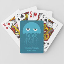 Funny Jellyfish custom playing cards