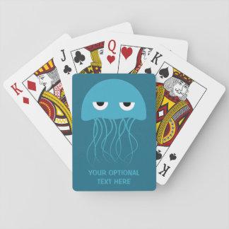 Funny Jellyfish custom playing cards