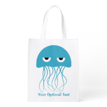 Funny Jellyfish custom reusable bag