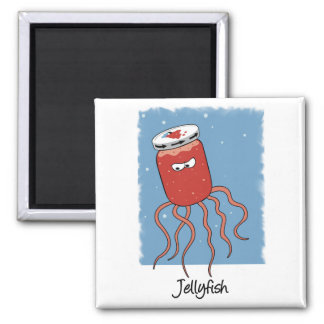 Funny Jellyfish magnet