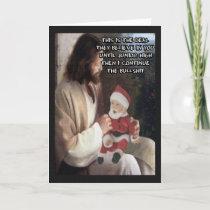 Funny Jesus and Santa Holiday Card