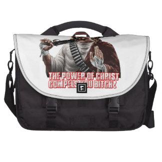 Funny jesus laptop messenger bag