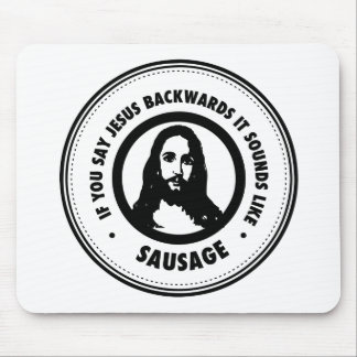 Funny Jesus Mouse Pad