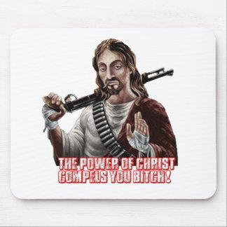 Funny jesus mouse pads