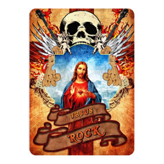 Funny Jesus rock Card