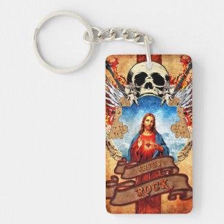 Funny Jesus rock Keychain