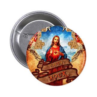 Funny Jesus rock Pinback Button