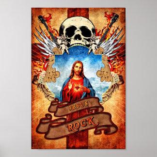Funny Jesus rock Poster