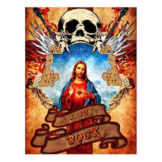 Funny Jesus rock'n'roll Postcard