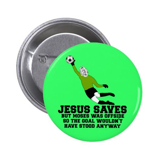 Funny Jesus saves Button