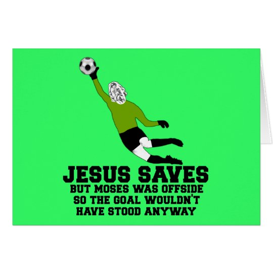 Funny Jesus saves Card