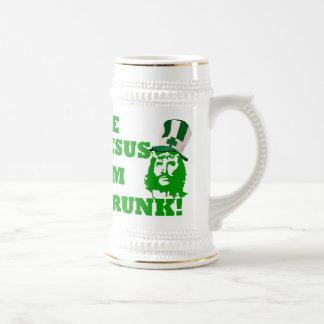 Funny Jesus  St Patrick's day 18 Oz Beer Stein