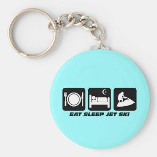 Funny jet ski basic round button keychain