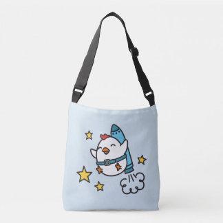 Funny Jetpack Chicken Design Crossbody Bag