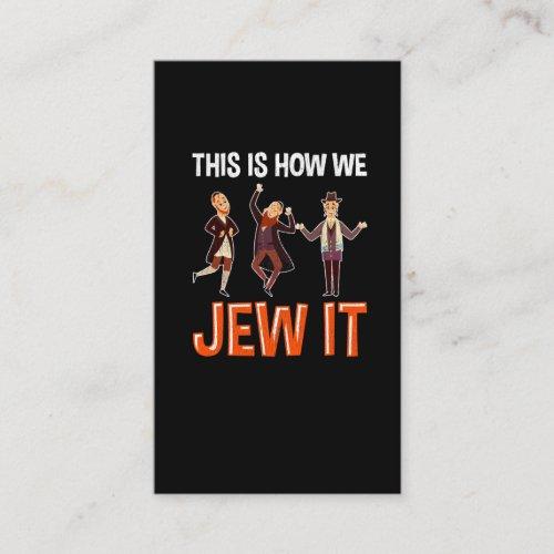 Funny Jew Quote Jewish Hebrew Humor Hanukkah Fun Business Card