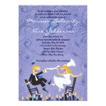 Funny Jewish Hora Chair Dance Wedding Invitation