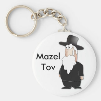 Funny Jewish rabbi - cool cartoon Keychain