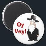 "Funny Jewish rabbi - cool cartoon Magnet<br><div class=""desc"">A funny cartoon character,  Jewish rabbi,  With various funny jewish sayings (Yiddish,  Hebrew) like Meshigene,  Klotz,  Oy Vey,  Feigale etc.</div>"