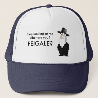 Funny Jewish rabbi - cool cartoon Trucker Hat
