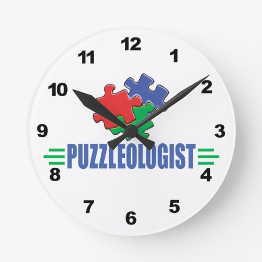 Funny Jigsaw Puzzle Wall Clock