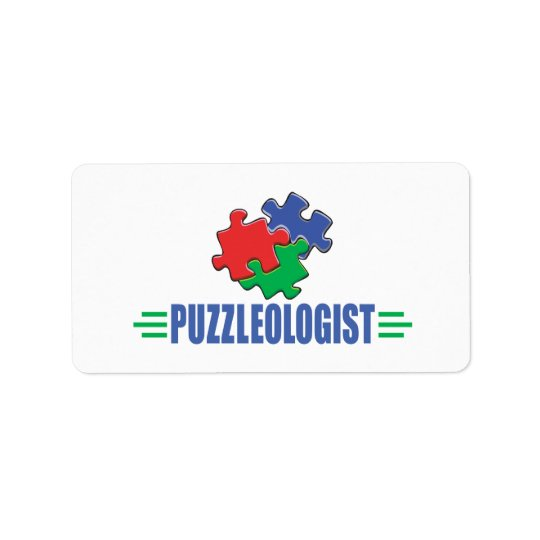 Funny Jigsaw Puzzle Label