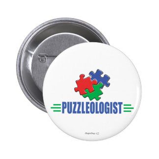 Funny Jigsaw Puzzle Pinback Button