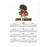 funny jive talker turkey cartoon business card template