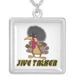 funny jive talker turkey cartoon custom necklace