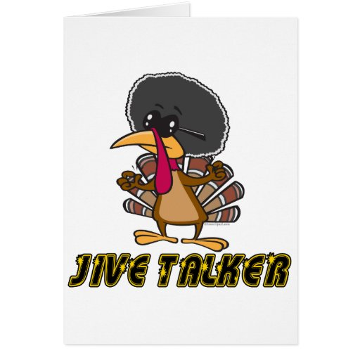 funny jive talker turkey cartoon greeting cards