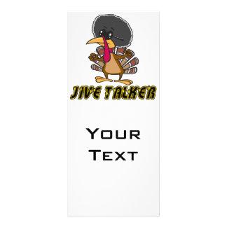 funny jive talker turkey cartoon rack card template