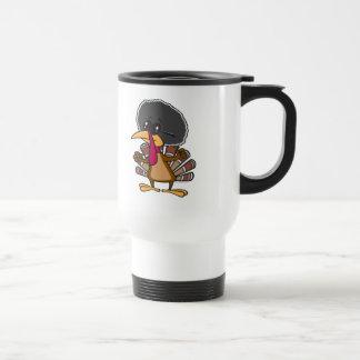funny jive turkey cartoon travel mug