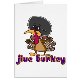 funny jive turkey cartoon with text card